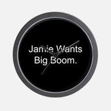 Jamie Wants Big Boom Wall Clock