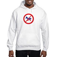 Anti-Democrat Donkey (Light) Hoodie