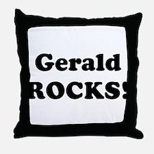 Gerald Rocks! Throw Pillow