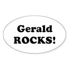 Gerald Rocks! Oval Decal