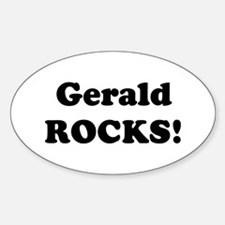 Gerald Rocks! Oval Decal