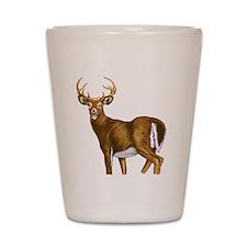 White Tail Deer Buck Shot Glass