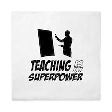 teaching is my superpower Queen Duvet