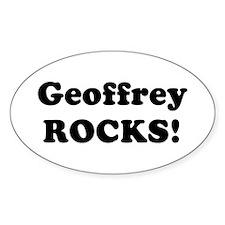 Geoffrey Rocks! Oval Decal