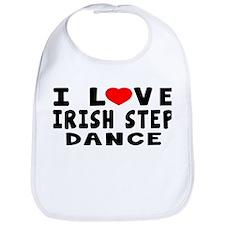 I Love Irish Step Bib