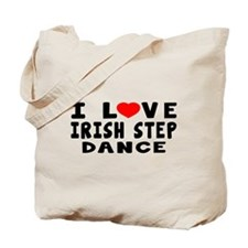 I Love Irish Step Tote Bag
