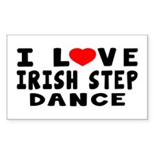 I Love Irish Step Decal