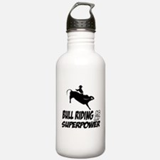 bull riding is my superpower Water Bottle