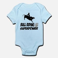 bull riding is my superpower Infant Bodysuit