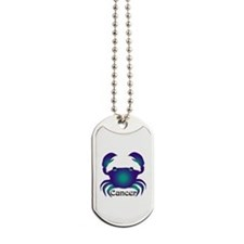 Whimsical Cancer Dog Tags
