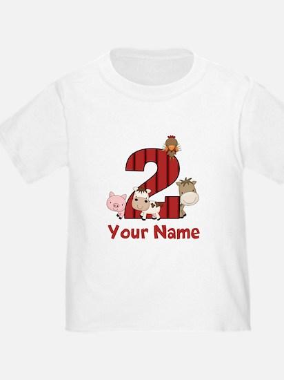 2nd Birthday Farm T-Shirt
