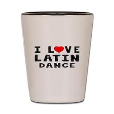 I Love Latin Shot Glass