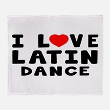 I Love Latin Throw Blanket