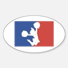 major league cheerleader Oval Decal