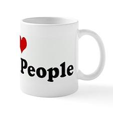 I Love Brown People Mug