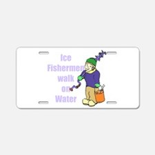 Ice fishermen 3 Aluminum License Plate