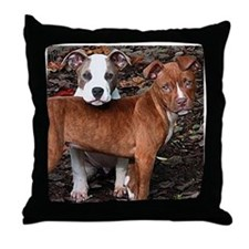 Pit Bull Terriers Throw Pillow