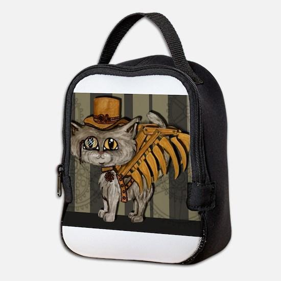 steampunk grey Mr Tipps Neoprene Lunch Bag