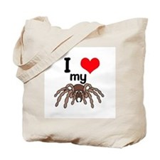 I Heart (Love) My Tarantula Tote Bag