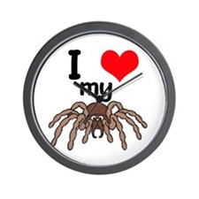 I Heart (Love) My Tarantula Wall Clock