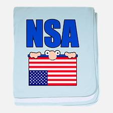 NSA peering eyes baby blanket