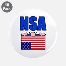 "NSA peering eyes 3.5"" Button (10 pack)"