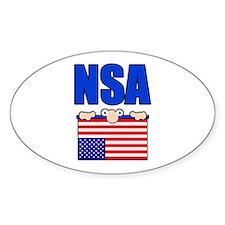 NSA peering eyes Decal