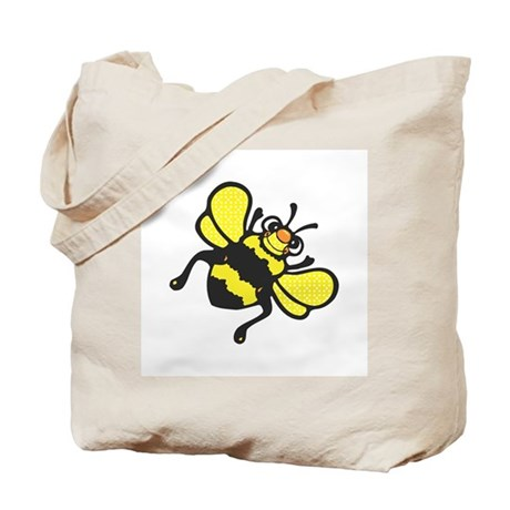 Silly Happy Bee Tote Bag