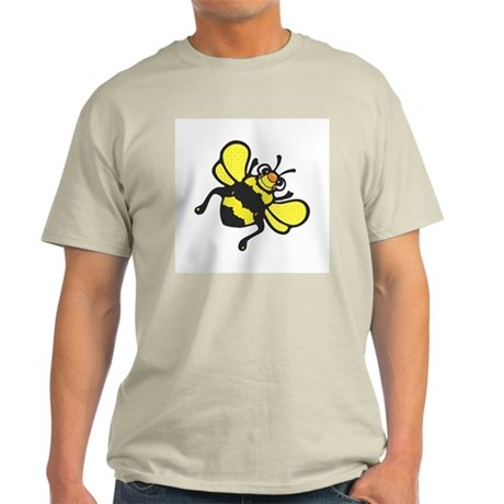 Silly Happy Bee Ash Grey T-Shirt