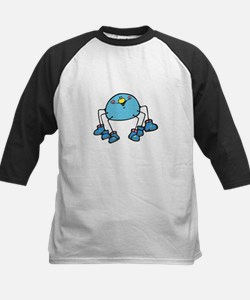 Silly Blue Spider Wearing Shoes Kids Baseball Jers