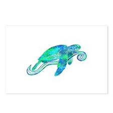 Sea Turtle Graphic Postcards (Package of 8)