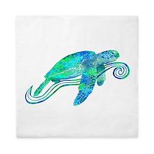 Sea Turtle Graphic Queen Duvet