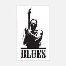 Blues Man Rectangle Bumper Stickers