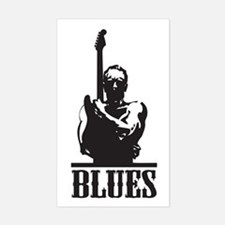 Blues Man Rectangle Decal