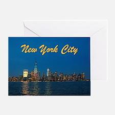 Night Lights! New York City Pro photo Greeting Car