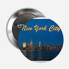 "Night Lights! New York City Pro photo 2.25"" Button"