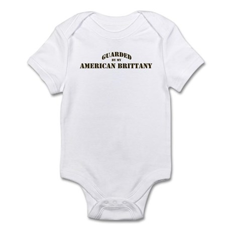 American Brittany: Guarded by Infant Bodysuit