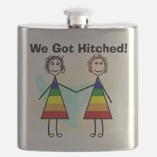 We got hitched LARGE Flask