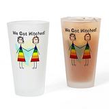 Lesbian wedding Pint Glasses