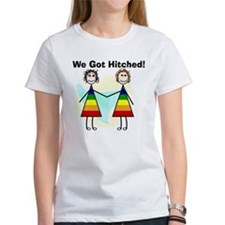 We got hitched LARGE T-Shirt