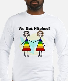We got hitched LARGE Long Sleeve T-Shirt