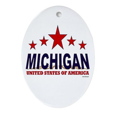 Michigan U.S.A. Ornament (Oval)