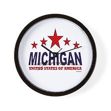 Michigan U.S.A. Wall Clock
