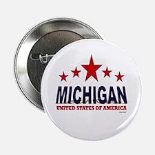"""Michigan U.S.A. 2.25"""" Button (10 pack)"""