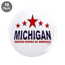 """Michigan U.S.A. 3.5"""" Button (10 pack)"""