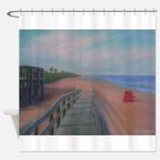 THE BEACH AT FLAGLER BEACH Shower Curtain
