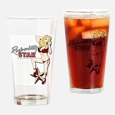 ROCKABILLY STAR LOGO Drinking Glass