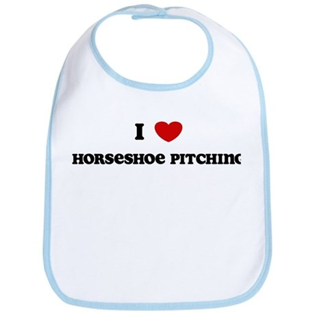 I Love Horseshoe Pitching Bib