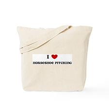 I Love Horseshoe Pitching Tote Bag