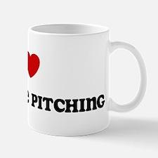 I Love Horseshoe Pitching Mug